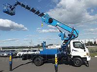 Телескопическая автовышка Hyundai 28 метров