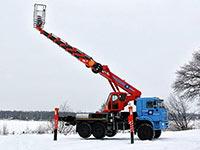 Автовышка телескопическая вездеход 36 метров